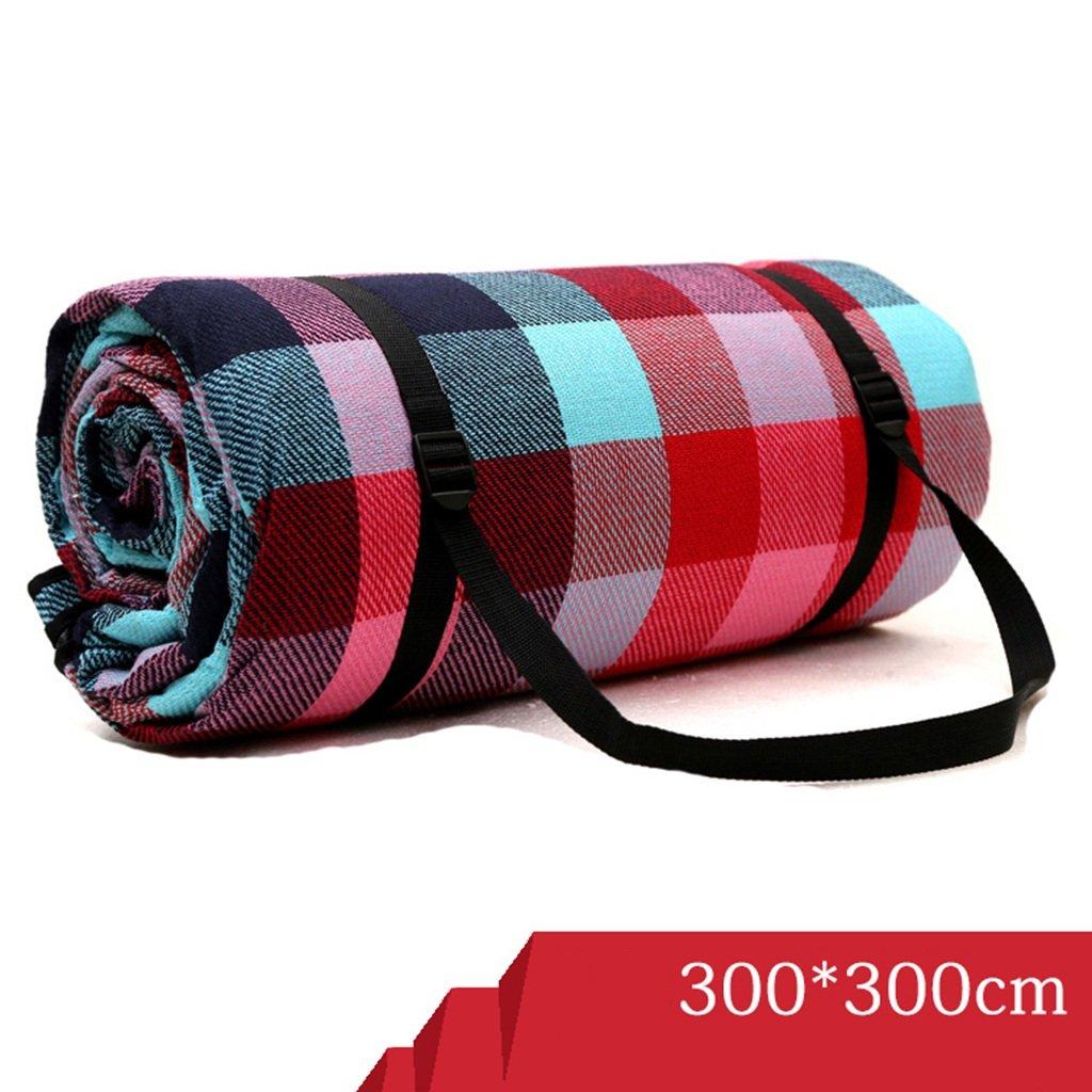 Picknickdecken Gitter-Picknick-Matten Wasserdichte Feuchtigkeits-Auflage Schwamm Gefüllt 300  300cm 300cm 300cm (größe   300  300cm) B072Q2YDRB | Angenehmes Aussehen  754c73