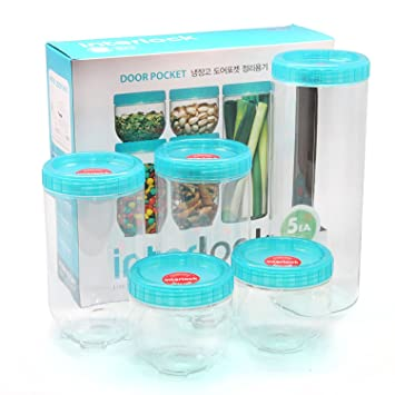 Merveilleux Lock U0026 Lock Refrigerator Door Clean Up Food Storage 5 Container Set