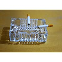 Xudo Crystal Clear Glass Ash Tray Squire for Cigarette