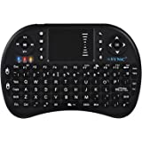 eSynic Backlit Keyboard Wireless 2.4GHz Keyboard Portable with Touchpad Mouse and Built-in Rechargeable Battery For Google Smart TV Android Box Windows Laptop and Raspberry PI3 PS4