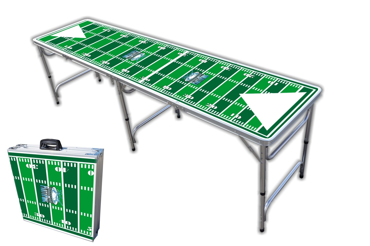 8-Foot Professional Beer Pong Table - Football Field Graphic by PartyPongTables.com