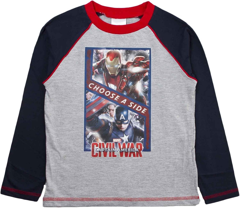 Bambini Ragazzi Pigiama Marvel Avengers Iron Man Pjs Set per Bambini Taglia UK 4-10 anni