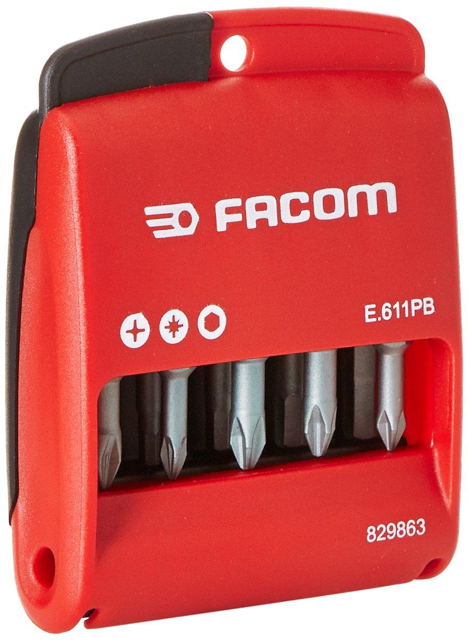 Facom E.611PG - Estuche de puntas largas (10 unidades, 50 mm)