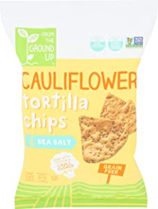 From The Ground Up, Tortilla Chip Cauliflower Sea Salt, 4.5 Ounce