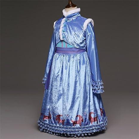e5eb30b23 gnrjgs Ropa para niñas Primavera y otoño invierno Amor Aisha Vestido ...