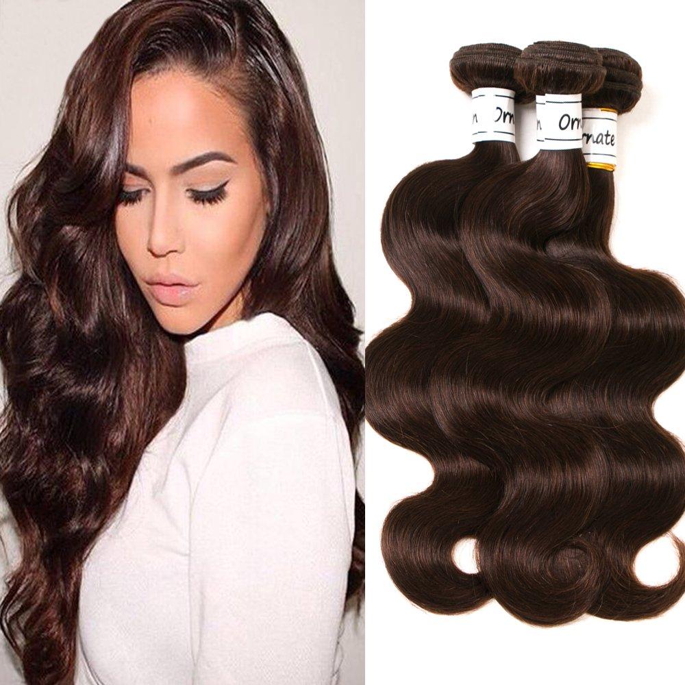 Amazon Com Dark Brown Body Wave Hair Bundles Brazilian