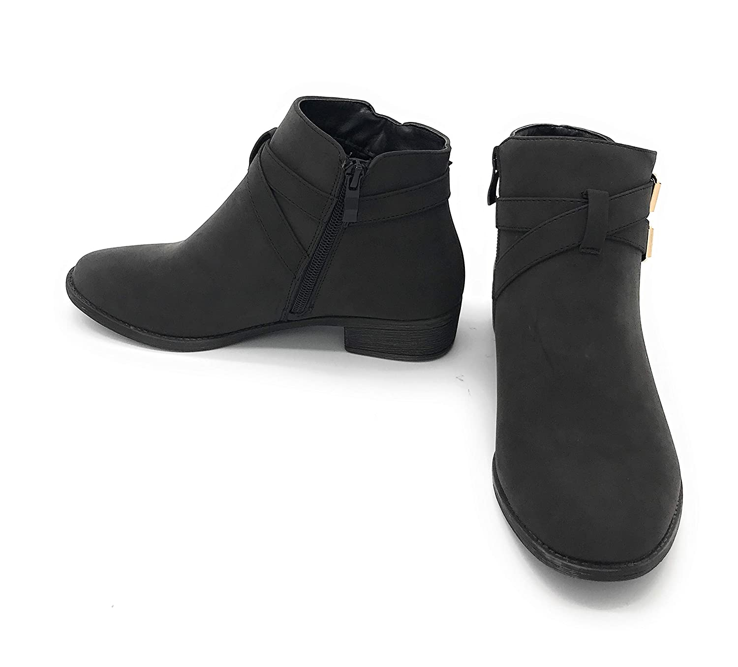 03black bluee Berry EASY21 Women Fashion Ankle Boots Casual Short Bootie shoes