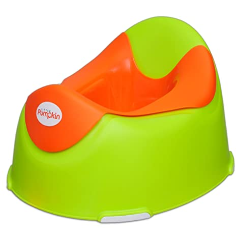 62729300b1d Buy Little Pumpkin Plastic Kingdom Potty Seat for Kids (Green   Orange  6  Months-3 Yrs) Online at Low Prices in India - Amazon.in