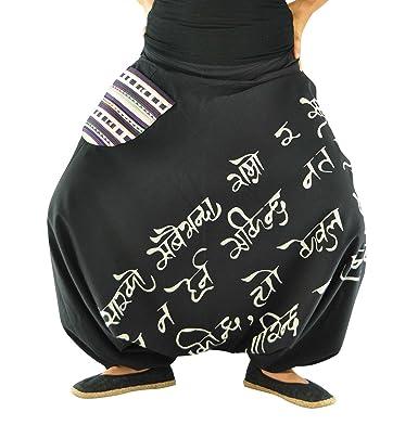 46d3b2d610e42 virblatt Pantaloni alla Turca Donna Pantaloni Etnici Larghi Donna Harem  Pants Yoga - Namoona SM
