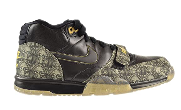 Amazon.com | Nike Mens Air Trainer 1 Mid Prm Qs BLACK/METALLIC GOLD/VAPOR  GREEN/BLACK 607081-002 | Fitness & Cross-Training