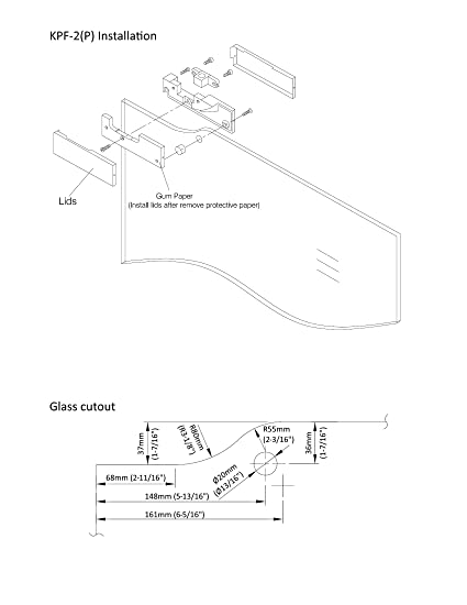 Nhn Modelkpf 2p Pss Top Patch Fitting For Glass Door Polished