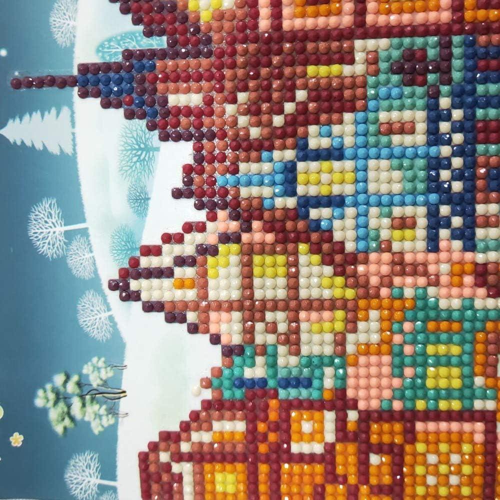 Greeting Cards Hochzeitskarten Geburtstagskarten Einladungskarten Geschenk Karten DIY Diamant Malerei Strass Weihnachtskarte Hukz Cartoon Diamond Painting Gru/ßkarten Weihnachten Karten
