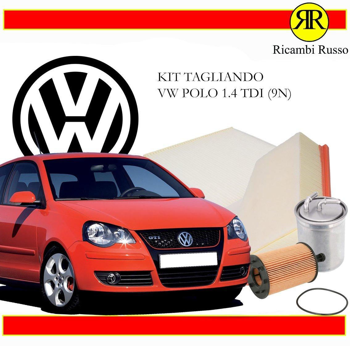 KIT TAGLIANDO 1.4 TDI 70CV 51KW FINO AL 2012 (5 LT. CASTROL EDGE 5W30) Ricambi Russo