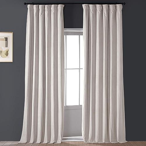 HPD Half Price Drapes VPCH-120601-120 Signature Blackout Velvet Curtain 1 Panel