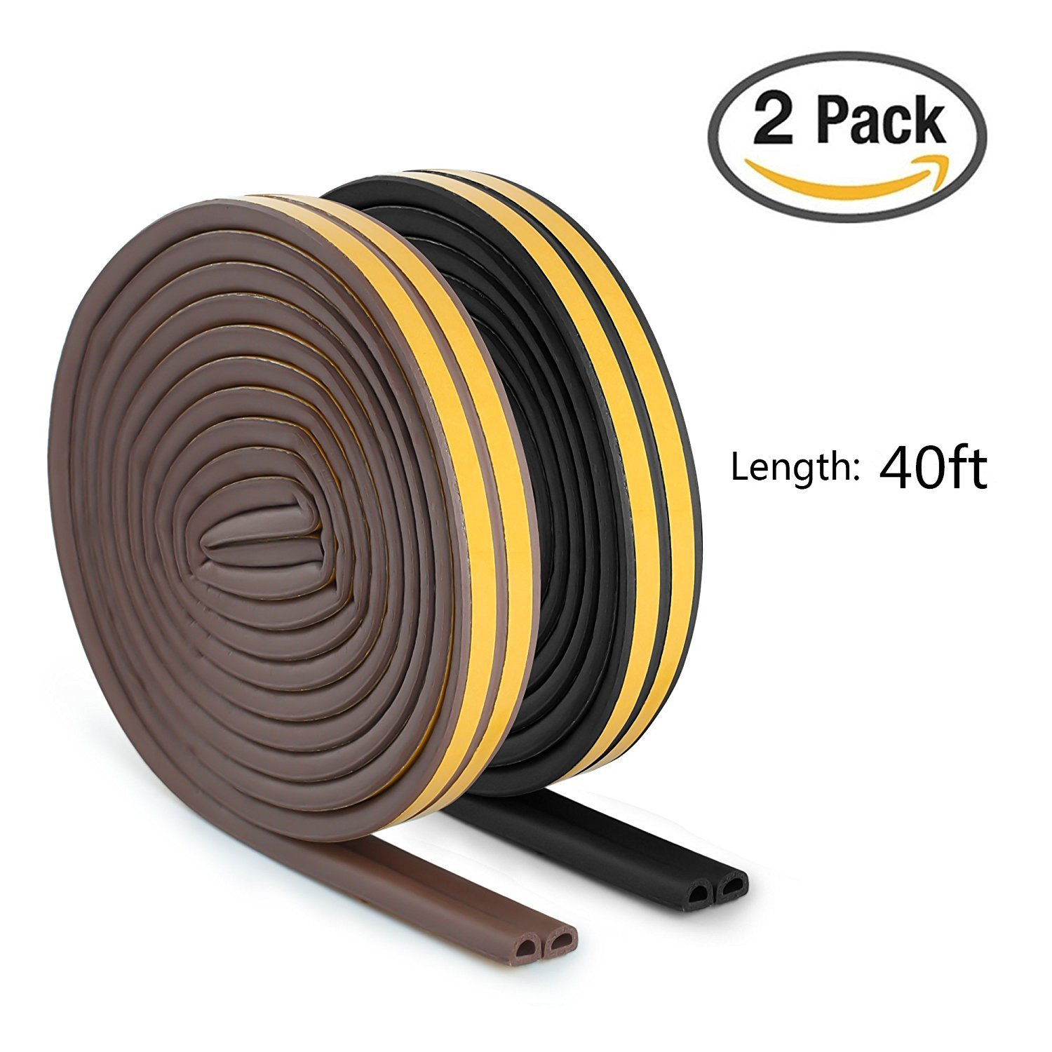 Indoor Weather Stripping, Door and Window Rubber Seal Strip for Cracks and Gaps, Soundproofing Waterproof Anti-Collision Seal Strip