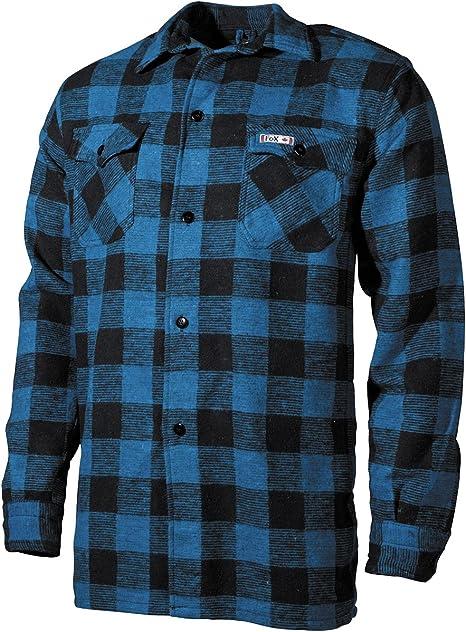 MFH camisa de leñador, colour azul/negro, a cuadros, color multicolor, tamaño large: Amazon.es: Ropa y accesorios