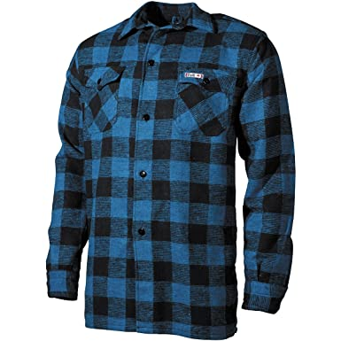 Fox Outdoor Men s Lumberjack Shirt Blue Black  Amazon.co.uk  Clothing 72a3fafab