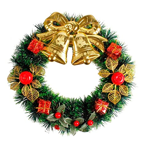 eachon diy merry christmas wreath 35cm garland window door decorations bowknot ornament d