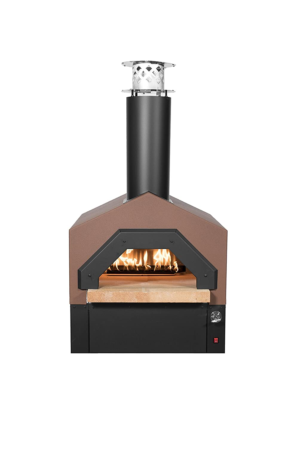Chicago Brick Oven Americano Wood-Fired Outdoor Pizza Oven Hybrid, Countertop (Propane Gas, Terra Cotta)