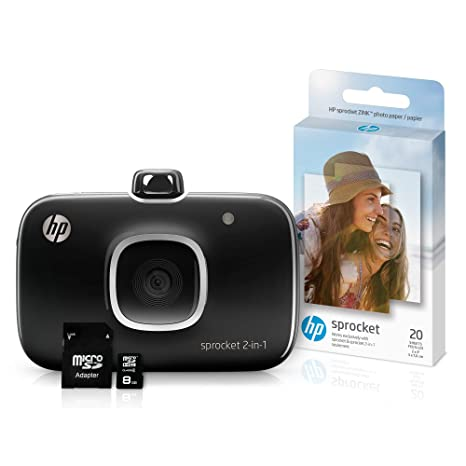 Amazon.com: HP 5MS96A Sprocket 2 en 1 - Impresora de fotos ...