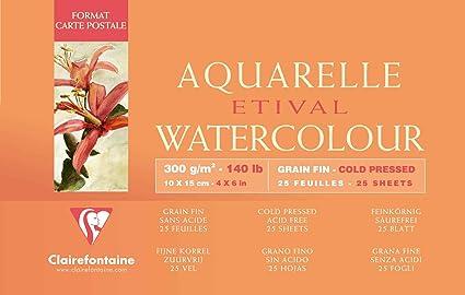 Clairefontaine 96468c Malblock Kopfseitig Geleimt Aquarellpapier