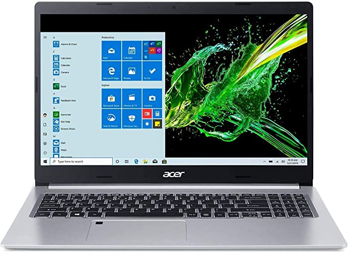 "Acer Aspire 5 15.6"" FHD IPS Laptop Computer 10th Gen Intel Core i5-1035G1 Processor (Up to 3.6GHz) 8GB RAM 256GB SSD WiFi 6, HD Webcam, Fingerprint Reader, Backlit Keyboard, Windows 10 Pro"