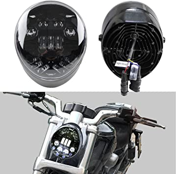 Motorcycle LED Front Headlight Headlamp For Harley Street Rod CVO V-Rod VRSC