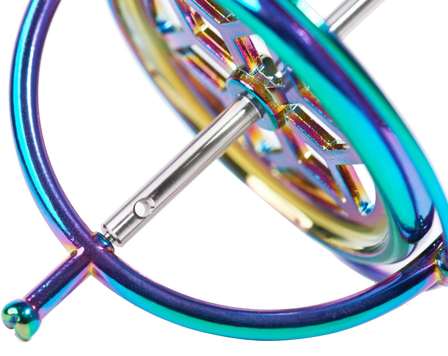 Joytech Precision Gyroscope Kill Time Metal Anti-Gravity Spinner Balance Toy Colorful JA05 by Joytech (Image #5)