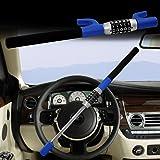 LC Prime Steering Wheel Lock Universal Vehicle Car Truck Van SUV Keyless Password Coded Twin Hooks Extendable Retractable Heavy Duty Security Guard