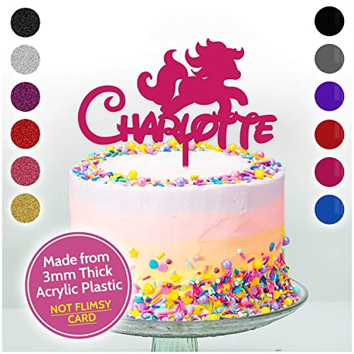 unicorn personalised birthday cake topper girls her cake decoration