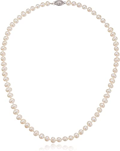 Real Pearl Necklace June Birthstone Necklace Fresh Water Pearl Necklace Silver Single Pearl Necklace Pearl Choker Necklace