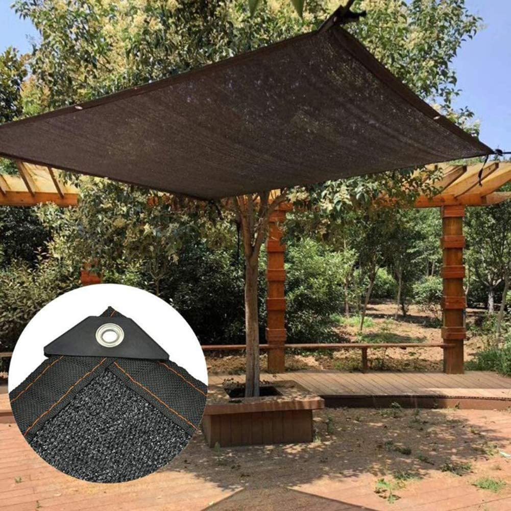 GZHENH-Malla Sombra De Red ,HDPE Terraza Red De Sombrilla Jardinería Sombreado Techo Anti-UV Tasa De Sombreado 80% Agujero De Metal Fácil De Colgar (Color : Black, Size : 4x4m): Amazon.es: Jardín