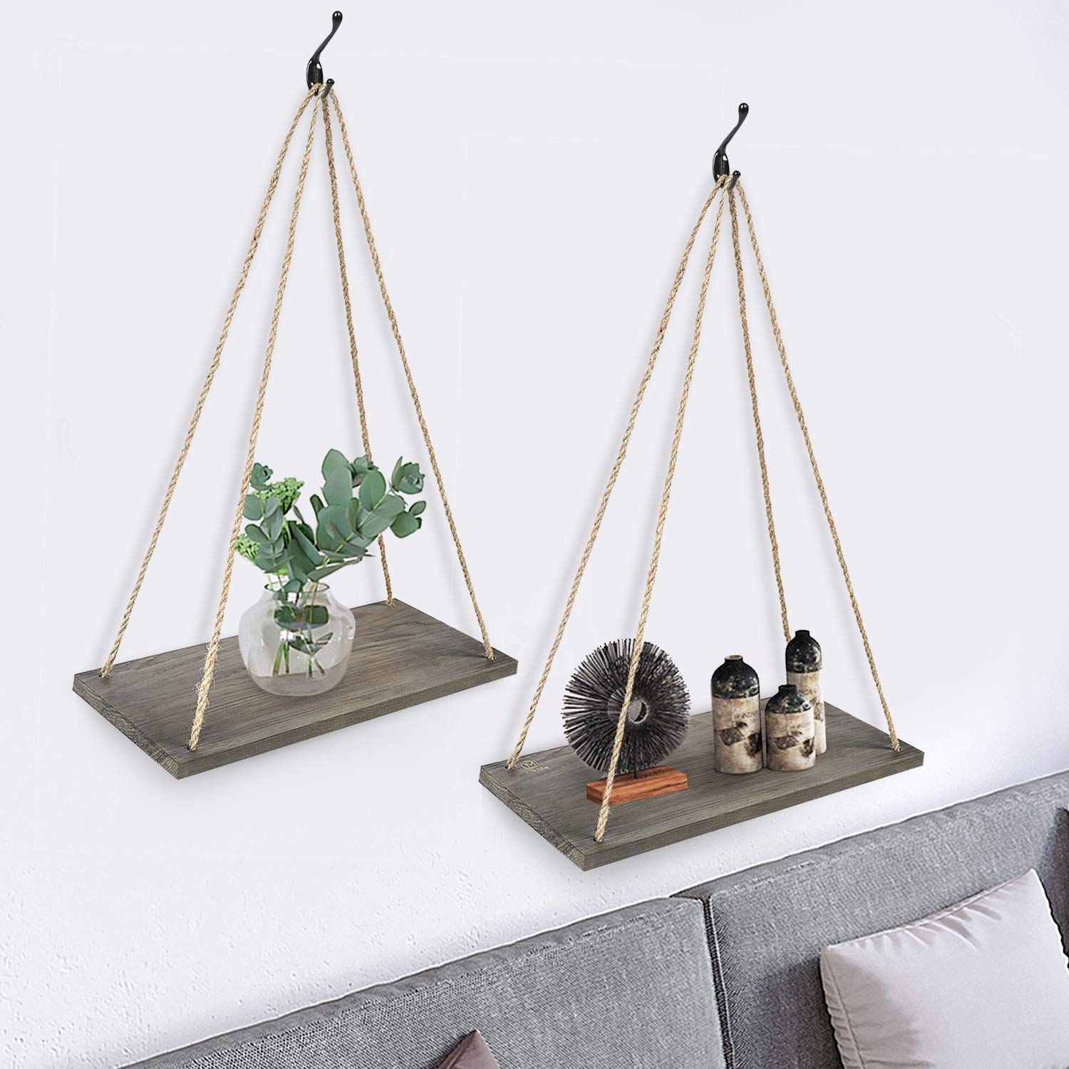 Beautiful rustic shelves can be installed 3 ways
