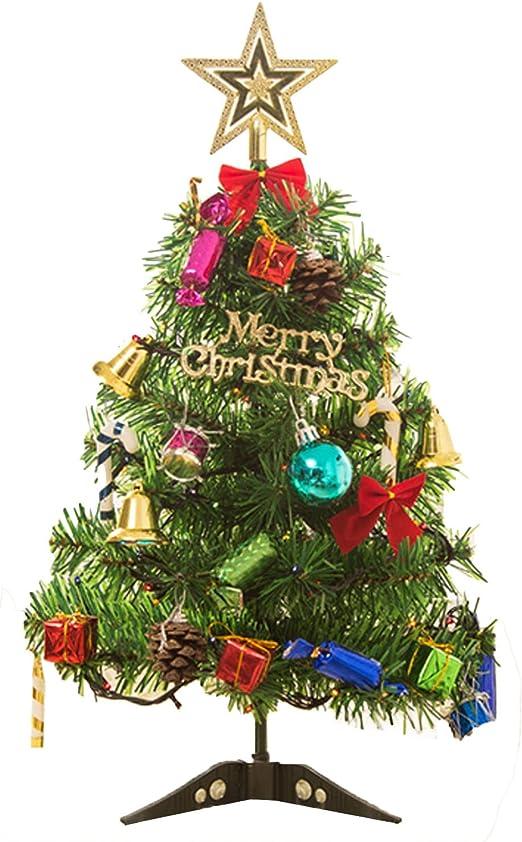 Gosear 50 cm Árbol de Navidad con LED Enciéndase Decoración de la ...