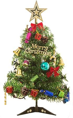 Gosear 50 cm Árbol de Navidad con LED Enciéndase Decoración de la Mesa de Navidad Ornamento de la Fiesta para el Ministerio del Interior Tienda de Mesa Ventana Decoración de DIY: Amazon.es: