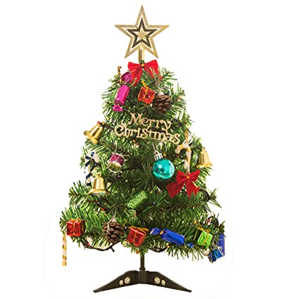 gosear 50cm christmas tree with led light up table decoration xmas party ornament for home office