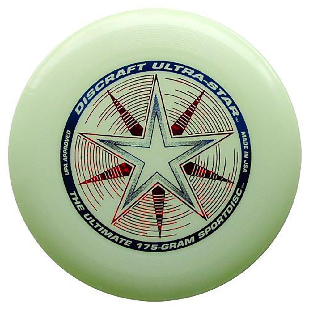Frisbee Profesional Discraft 175 Gramos / 27cm. Ultra Star Sport Disc Nite Glow