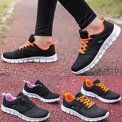 Zapatillas Planos Deporte Mujer, Mujeres Zapatos Verano Running ...