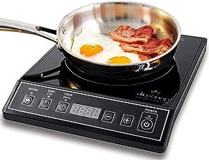 Duxtop 1800W Portable Induction Cooktop Countertop Burner, Black 9100MC