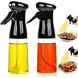 Juego de 2 pulverizadores de aceite para cocinar, dispensador de aceites de oliva rellenables, versátil, botella pulverizador