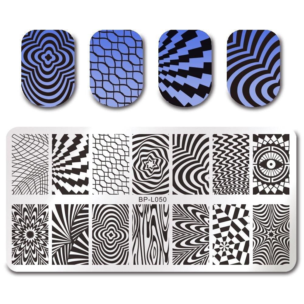 Born Pretty Nagel Schablonen Nail Art Stempel Plate Blumen BPX-L049 DIY Design Born Pretty®BP-L049