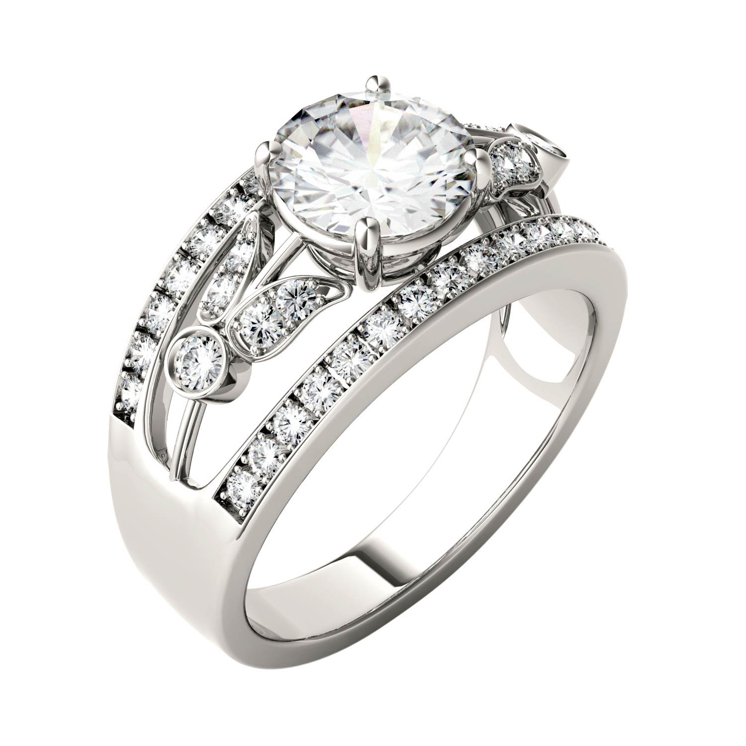 Forever Brilliant Round 7.5mm Moissanite Ring-size 7, 1.91cttw DEW By Charles & Colvard by Charles & Colvard (Image #2)