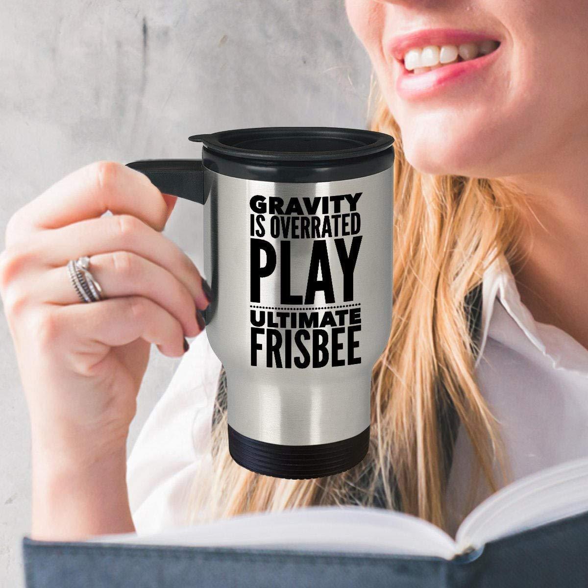Frisbee Mug de voyage Ultimate Frisbee Tasse Funny Mug de frisbee Frisbee Idée de cadeau Gravity est Overrated Play Ultimate Frisbee 396,9gram