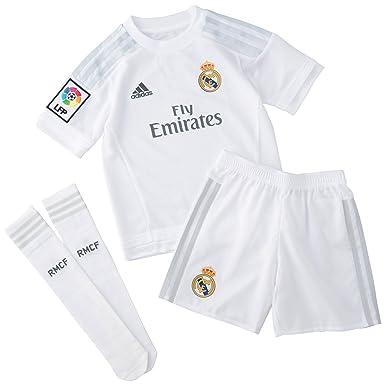 adidas 1ª Equipación Real Madrid CF SMU Mini - Conjunto