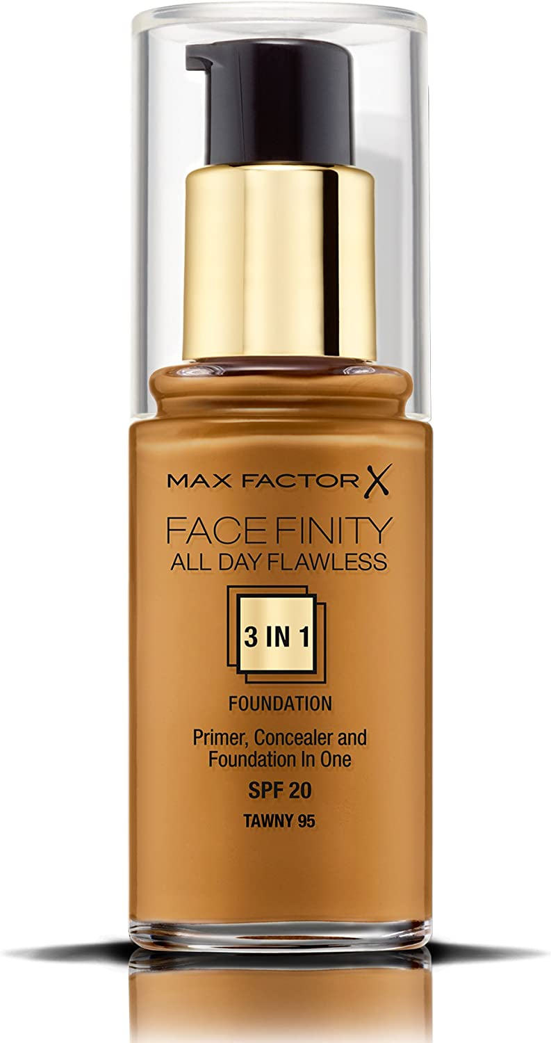 Max Factor Facefinity All Day Flawless 3 In 1 Foundation SPF 20, No. 95 Tawny