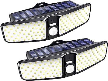 Premium LED Solarlampe 3,2W weiß Garten Garage Terasse Balkon Bewegungsmelder