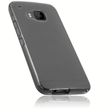 mumbi Schutzhülle für HTC One (M9) Hülle transparent schwarz