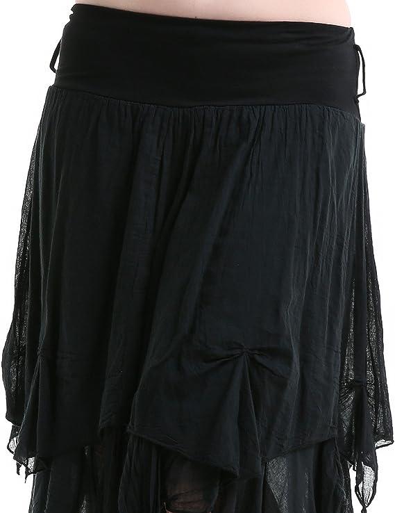crazyinlove Mujer Falda Asimétrica Negro negro Large: Amazon.es ...