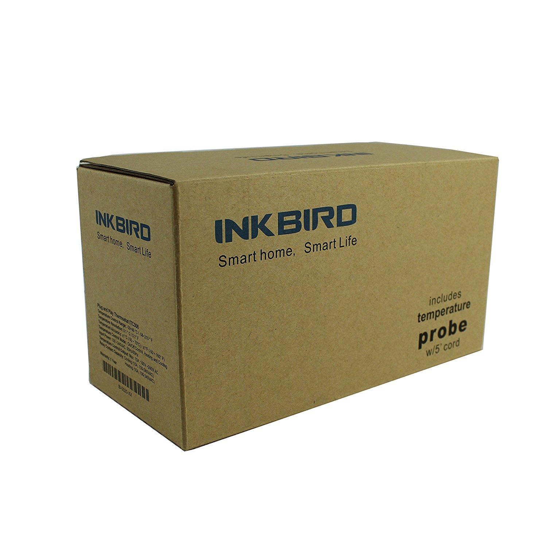 Inkbird ITC-306T Termostato Digital+Sonda de Acuario Adecuado para Acuarios Planta Crecimiento Mascotas no refrigeraci/ón Double Rel/és Control la Temperatura Ranga del Calentador