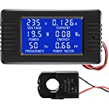 CrocSee AC 80-260V 100A CRS-022B LCD Display Digital Current Voltage Power Energy Frequency Power Factor Multimeter Ammeter V